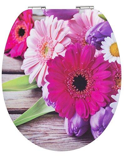 EISL High Gloss WC-Sitz FLOWERS mit Absenkautomatik, EDHGFL01
