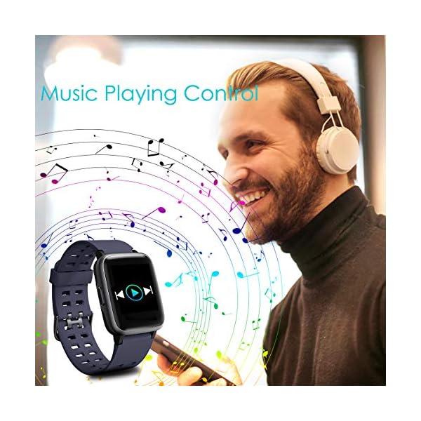 HOMVILLA Pulsera Actividad, Fitness Tracker, Reloj Inteligente Impermeable IP68 con Pulsómetro Monitor de sueño Pulsera… 7