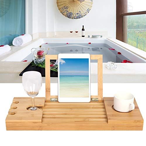 Vassoio portaoggetti per vasca da bagno resistente con design a scanalatura antigraffio per bagni