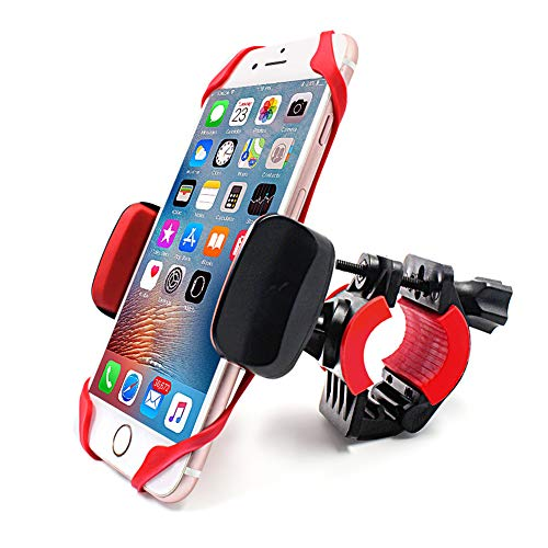 Bike & Motorcycle Phone Mount holder-360° Rotatable Adjustable Bicycle GPS Units Mount Holder, Compatible with iPhone 11 Pro Max/X/XS MAX/XR/8/8 Plus Samsung or Any Other Smartphone