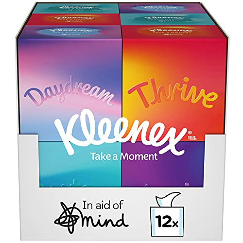 Kleenex Collection In Aid of Mind Tissues - 12 Cube Tissue Boxes (576 Tissues)