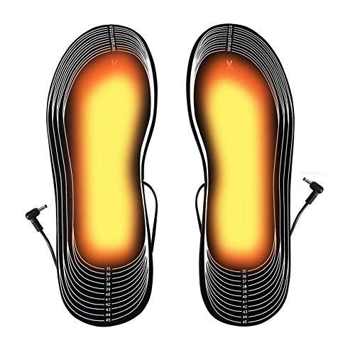 1Pair Heizung Einlegesohle Wiederaufladbare Heizsohle Elektro USB aufladbare Beheizte Thermal Sole getrimmte Winter-Fußwärmer