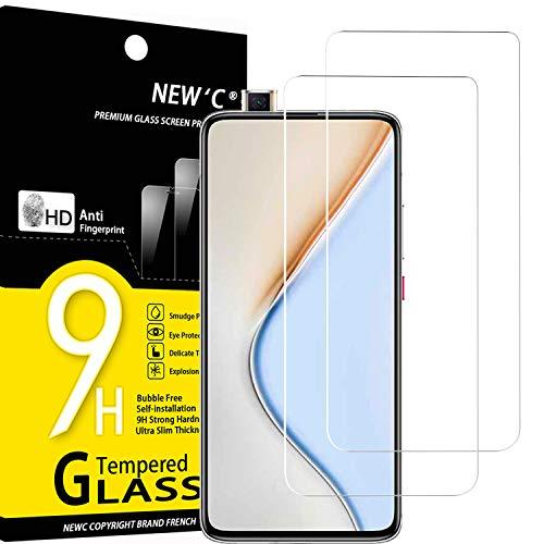 NEW'C 2 Unidades, Protector de Pantalla para Xiaomi Redmi K30 Pro, Xiaomi Poco F2 Pro, Antiarañazos, Antihuellas, Sin Burbujas, Dureza 9H, 0.33 mm Ultra Transparente, Vidrio Templado Ultra Resistente