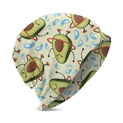 zhouyongz Avocado Hula Hoop Beduinen Weben Zelt Teppich Hut Turban Head Cap Skullies Hut für Jungen & Mädchen Strickmütze Winter Warme Kindermütz