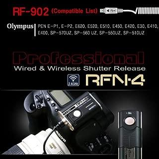 RFN-4 (RF-902) Wireless & Cable Shutter Release for Olympus DSLR Cameras RM-UC1 USB (Olympus PEN-F, PEN E-PL8, OM-D E-M1, E-M5, E-30, E-620, E-520, E-510, E-420, E-410, PEN E-P5, E-PL5, E-PL3, E-PL2, PEN E-P3, E-PM1, EP-2, EP-1, SP-570UZ, SP-560UZ, SP-550UZ, SP-510UZ, SZ-30MR, Stylus 1)