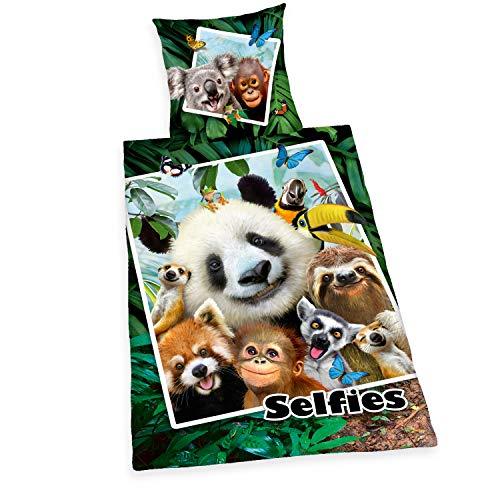 Herding Selfies Bettwäsche-Set, Cotton, mehrfarbig, 70 x 90 cm, 140 x 200 cm