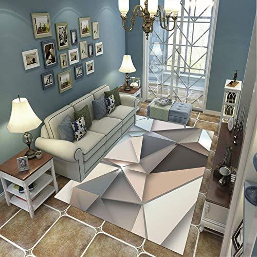 Alfombra Suave, Moderno Estilo Decoración Alfombras, Niños Gateando Manta, Arte De Impresión 3D Triángulo Tridimensional, 180(H)X260(W)Cm Moqueta Para Dormitorio Y Salón O Habitación Infantil