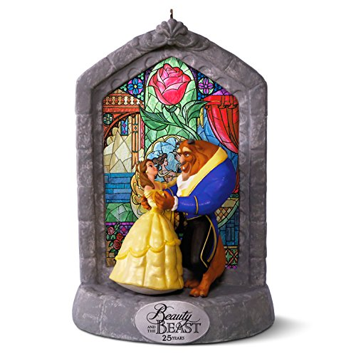 Beauty and the Beast 25th anniversary ornament