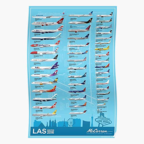Generic Las Aviation Mccarran Klas Boeing Vegas Airbus Aircraft Home Decor Wall Art Print Poster ! Home Decor Wandkunst drucken Poster !