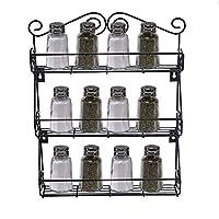 キッチンラック 3層キッチンボトルスパイスラックジャーホルダー収納棚オーガナイザーウォールマウント 調味料収納ラック