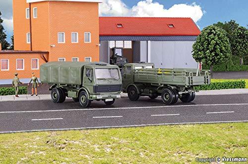 Kibri 18051 Bundeswehr LKW MB 1017/1017A Pritschenwagen, 2 Stück