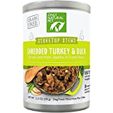 Only Natural Pet Stovetop Stews Grain-Free, Premium Wet Canned Dog Food, Shredded Turkey & Duck Stew 12.5 oz Cans (Pack of 12)