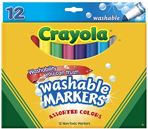 Crayola Washable Markers, Assorted Colors, 12 Count