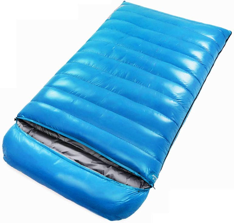 Durable,Breathable,comfortableSleeping Bag, Waterproof Lightweight Sleep Bags 4 Person Adults Camping Sleep Sack Warm Thick Portable Outdoor Sleeping Pad,darkblueee,3000g