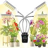 Railee Pflanzenlampe LED Vollspektrum 192 LEDs Grow Lampe Pflanzenleuchte Pflanzenlicht mit LCD-Anzeige Timer Pflanzen Lampe Pflanzen Licht Wachstumslampe mit 0-24 Stunden Timer 4 Modi 15 Lichtstärken