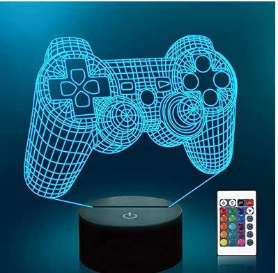 ARMAC Entre nosotros 3D Illusion Lámpara de Escritorio Decoración Mesa de Café LED Sensor de Noche Lámparas (Grietas, Interruptor Táctil + Control Remoto)
