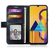 J Jecent Samsung Galaxy M21 Hülle, PU Flip Leder