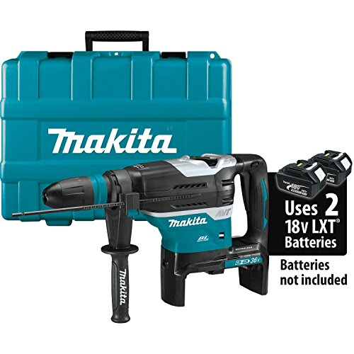 Makita XRH07ZKU 18V x2 LXT Lithium-Ion (36V) Brushless Cordless 1-9/16' Advanced AVT Rotary Hammer, Accepts Sds-Max Bits, Aws, Tool Only