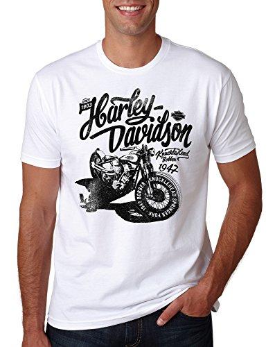 LuckyTshirt Retro Harley T Shirt Davidson Biker Mens Bike Motorcycle M Motorbike Logo Juko Tee XXL Quinn - M
