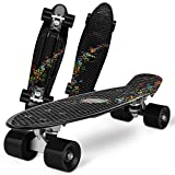 Gonex Skateboard Completo Mini Cruiser Skates Penny Board per Bambini Giovani Adulti...