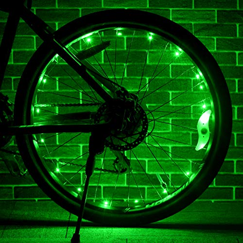 dmazing Toys for 5-14 Year Old Boys, Bicycle Spoke Lights Cool Bike Accessories 5-14 Year Old Boy Girl Teenage Gifts 5-14 Year Old Boy Easter Gifts for Kids Activities Green