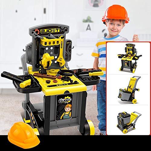 Lihgfw Kinder Toolbox Spielzeug-Set, Baby-Simulation Wartung Reparatur-Werkzeug-Tabelle, Spielhaus Spielzeug, besten Geburtstag (Color : EIN)