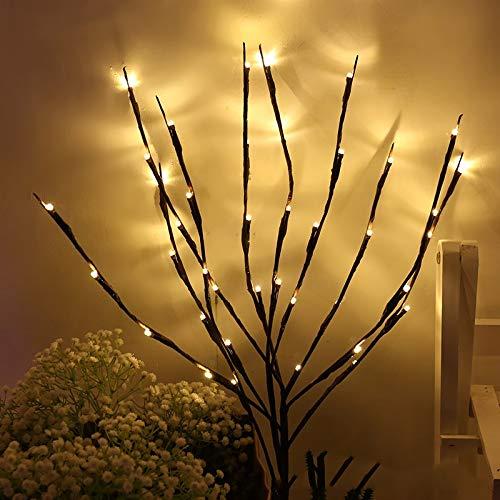 Nachtlicht 20 Lampen LED Weidenzweig beleuchtet Lampe Zweig beleuchteter Zweig Weihnachten Hochzeit dekorative Leuchten (Emitting Color : Changeable)