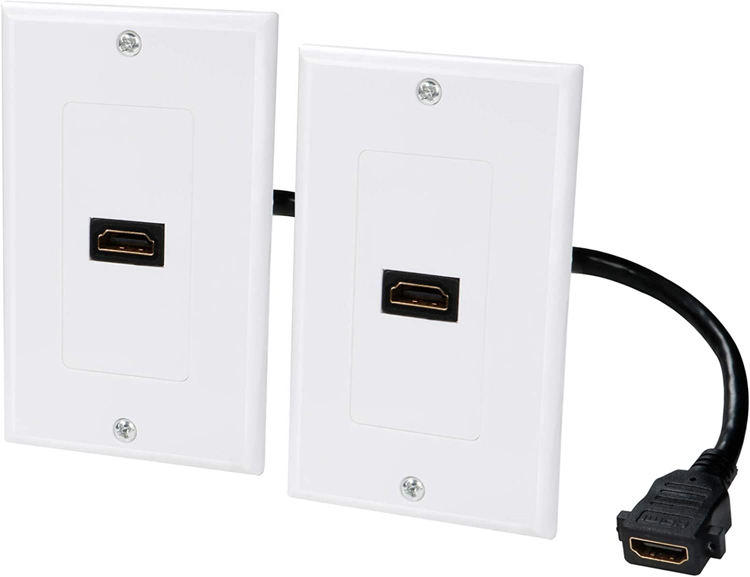 HDMI Wall Plate 1 Port 4k Single 2-Pack Minneapolis Mall S Regular store Outlet Faceplate