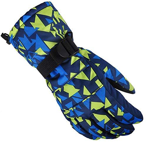 PAPLIU Handschuh Winter Männer Esquiar Handschuhe Doodle Frauen Handwärmer Camo Gedruckt Baumwolle Verdickt Männliche Handschuhe Wasserdicht D M