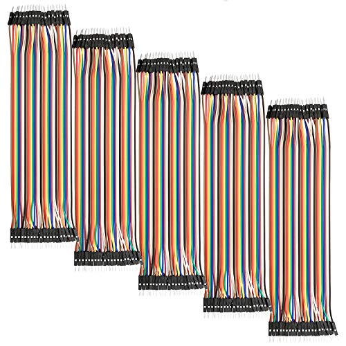 AZDelivery 5 x Jumper Wire Kabel 40 STK. je 20 cm M2M Male to Male für Arduino und Raspberry Pi Breadboard
