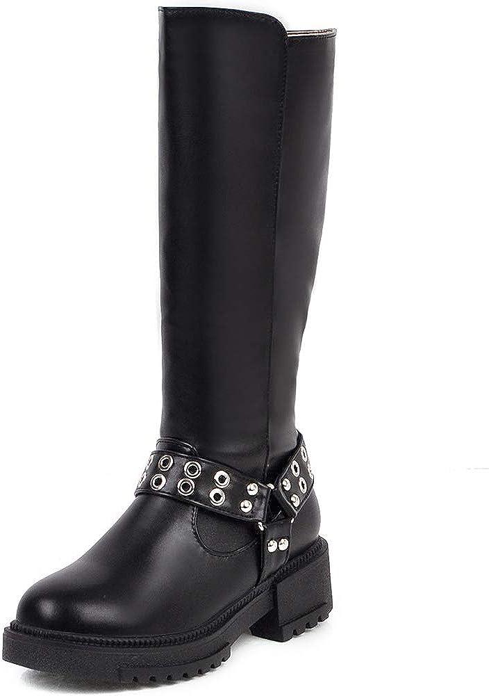 CYNLLIO Women's Low Super-cheap Block Heel Wide Comfort High Boots Latest item Calf Knee