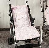 Babyline Caramelo - Colchoneta ligera para silla de paseo, color rosa