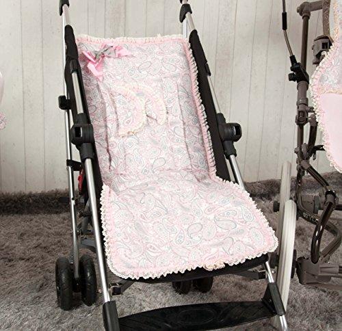 Babyline Caramelo - Colchoneta ligera para silla de paseo, color rosa ⭐