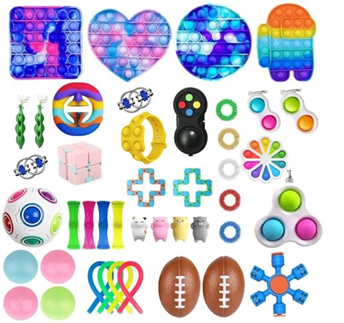 Fidget Toy Packs, 43 Piezas de Juguetes antiestrés y Anti-ansiedad para niños, Adultos, TDAH, ansiedad, Autismo, widget sensorial para Terapia Relajante, Regalos de Fiesta, recompensas