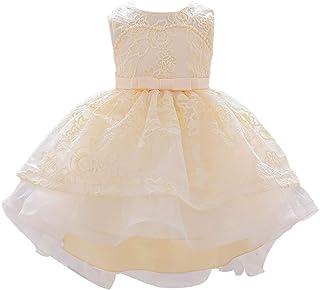 set di fasce giallo 0-3 mesi vestito da tutu formale da cerimonia nuziale per principessa Bowknot in pizzo per bambine Abito per bambini per bambina gonna per bambina