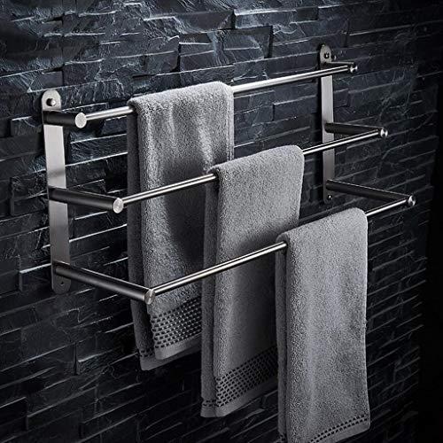 304 Edelstahl Gebürstet Multifunktionale Badezimmer Handtuchhalter 3-Tier Handtuchhalter Badetuchhalter Bad-Accessoires (größe : 60)