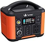 KYNG Solar Generator Portable Power Station 388Wh Pure Sine Wave Lithium Battery, Solar Panel Charge Connection, Emergency Power Supply, LED Screen, CPAP, Outdoors, Portable RV/Camping Generator 300W