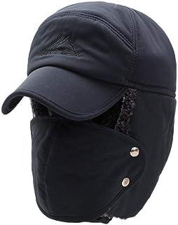 Cappello invernale con protezione per le orecchie 3 in 1 Cappello da trapper con fodera in pelliccia termica a tutto tondo...
