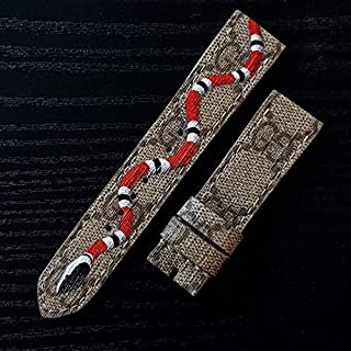 Custom Handmade Premium Calf Leather Watch Band Gunny Straps - Gucci x Snake for Apple Watch 42mm