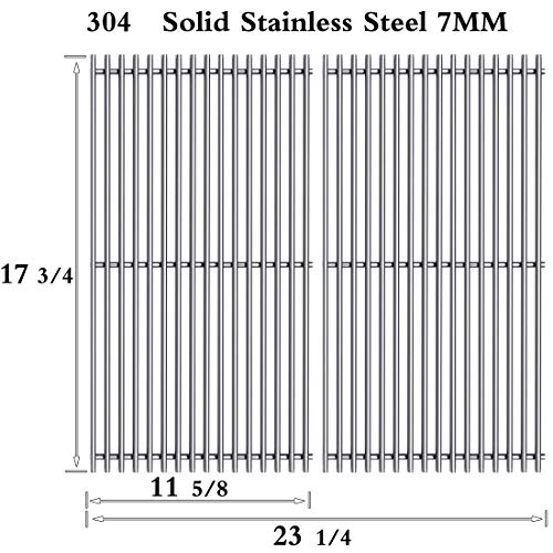 Htanch SF1902 (2-Pack) Stainless Steel Cooking Grid Grates for BBQ grillware : GSC2418, GSC2418N, Perfect Flame : SLG2006B, SLG2006BN, SLG2007A, SLG2008A