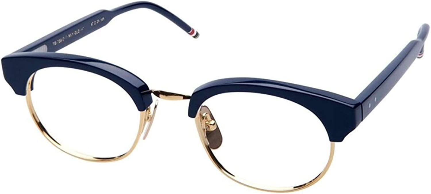 THOM BROWNE TB702DNVYGLD Eyeglasses Navy gold w Demo Lens 47mm