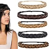 EOPER Braided Hair Headbands for Women, 5 Pieces...