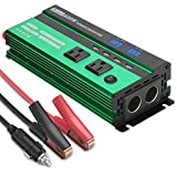 Power Car Inverter 600W DC 12V to AC 110V Power Converter with LED Display,Cigarette Lighter,2 AC Outlets,Fast Charging USB Port Car Charger for Smart Phone,Laptop,Vehicle,Camera in Camp, Emergency