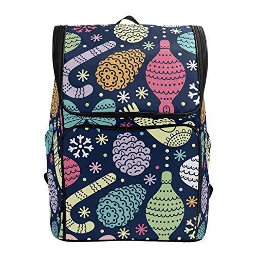 Chic Houses Adorno navideño de bastón de caramelo temático casual mochilas de día multiusos diseño abstracto creativo para portátiles de hasta 15.6 pulgadas para hombres y mujeres 2030079