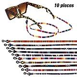 Xinzistar 10 Stück Brillenband Sport Brillenbänder Grobe Baumwolle Bunte Brillenkette Brillen Band Brillenkordel Brillen Kette Lanyard für Damen Herren