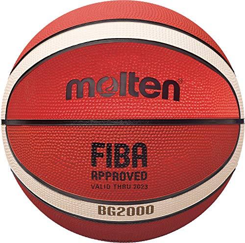 Molten BG-Series Leather Basketball, FIBA Approved - BG2000, Size 5, 2-Tone