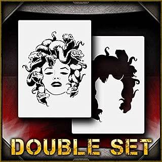 Medusa-b AirSick Airbrush Stencil Template