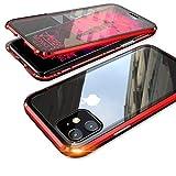 MQman 360°全面保護 前面ガラスプレート+背面ガラスプレート iphone11 ケース 2色アルミバンパ……