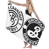 65469longshuo The Newest Brooklyn Brewery Logo Bath Towels Luxury Microfiber Beach Towel Quick-Drying Pool Towel Blanket Toalla