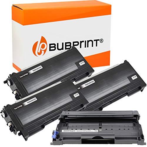Bubprint 3 Toner und Trommel kompatibel für Brother TN-2000 DR-2000 für DCP-7010 DCP-7010L DCP-7025 HL-2020 HL-2030 HL-2040 HL-2070N MFC-7225N MFC-7420 MFC-7820 MFC-7820N Fax 2820 2920